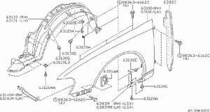 Nissan Altima Fender Splash Shield  Right  Front   Fitting