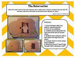 A Sunday School Easter Resurrection Tomb Craft Set with ...
