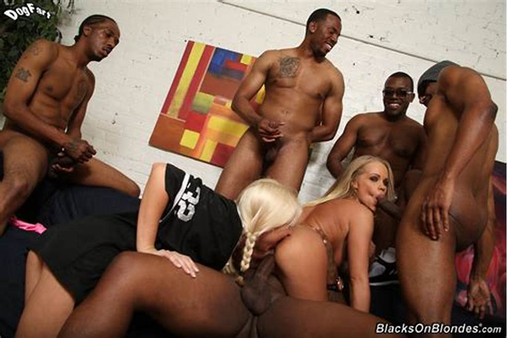 #Extreme #Interracial #Gangbang #Featuring #Britney #Young #And #Five #Muscular #Black #Males