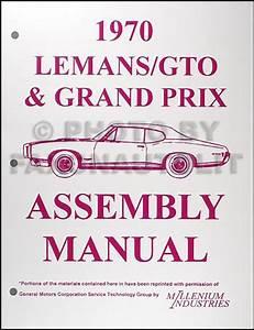 1970 Pontiac Gto  Lemans  Tempest Wiring Diagram Manual