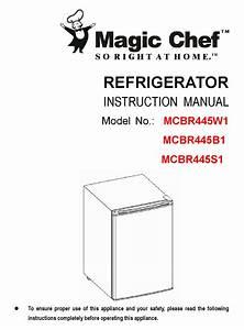 Magic Chef Mcbr445b1 Instruction Manual Pdf Download