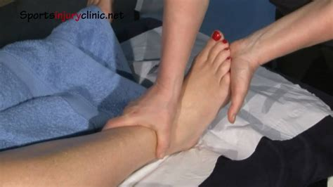 Related online courses on physioplus. Sports Massage - Ankle Sprain - YouTube