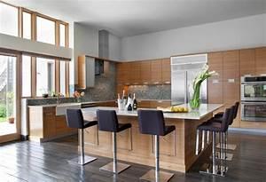 Cuisine en l moderne avec ilot en 108 photos magnifiques for Petite cuisine équipée avec meuble de salle a manger contemporain