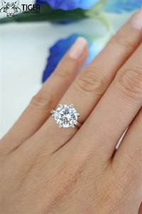 3 carat round 6 prong solitaire engagement ring by With 3 carat wedding ring