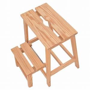 2-tier, Solid, Wood, Folding, Step, Stool, -, Walmart, Com
