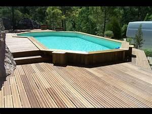 Piscines Semi Enterrées : terrasse bois piscine semi enterree us67 jornalagora ~ Zukunftsfamilie.com Idées de Décoration