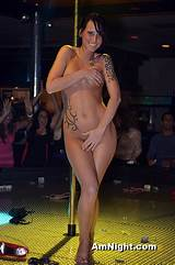 Amateur strippers on stage