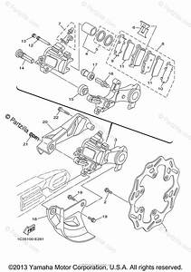 Yamaha Motorcycle 2008 Oem Parts Diagram For Rear Brake