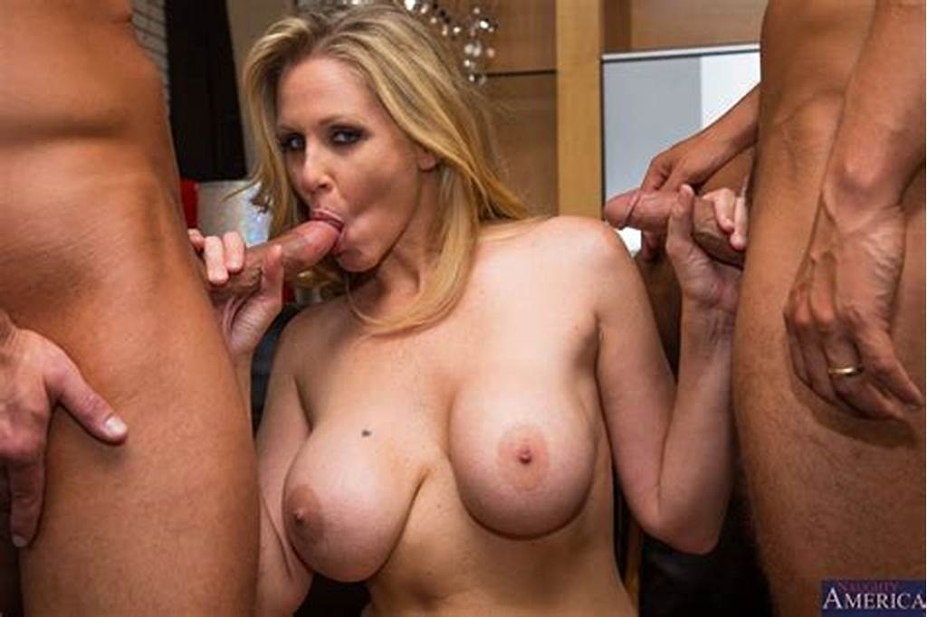 #Julia #Ann #Pleasures #Two #Cocks #In #Stockings #On #The #Couch