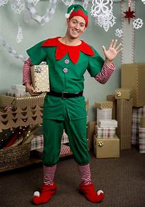 2x Size Chart Plus Size Holiday Elf Costume For Men