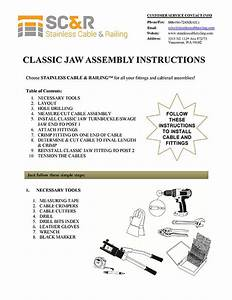 Instruction Manual For Classic Jaw Turnbuckle For Cable