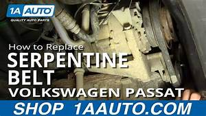How To Install Replace Alternator Power Steering Engine Belt Volkswagen Passat 1 8t 1aauto Com
