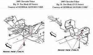 How Do I Remove Tow Hooks From My 2005 Chevy Tahoe So That