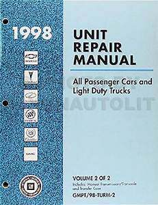 1998 Chevy Manual Transmission Overhaul Book Ck Pickup