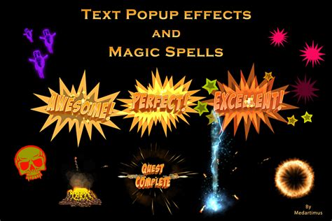 This visuals are created to help enhance your music tracks. Magic Spells and Popup effects - Free Download   Unity Asset Collection