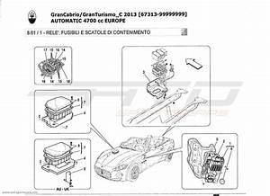 Maserati Granturismo Grancabrio 4 7l Auto 2013 Relays  Fuses And Boxes Parts At Atd