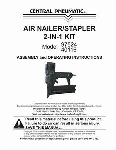 Central Pneumatic 97524 Operating Instructions