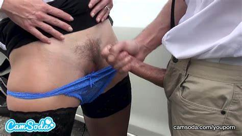 Milf Has Help To Make Him Facial After A Blowjob In Outdoor