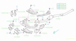 Subaru Impreza Catalytic Converter  Front   Exhaust