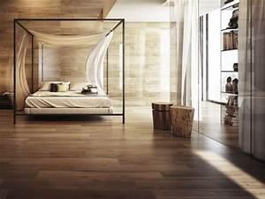 Revetement Bois Mural : rev tement mural bois nos id es tendance pour la d co chambre moderne ~ Melissatoandfro.com Idées de Décoration