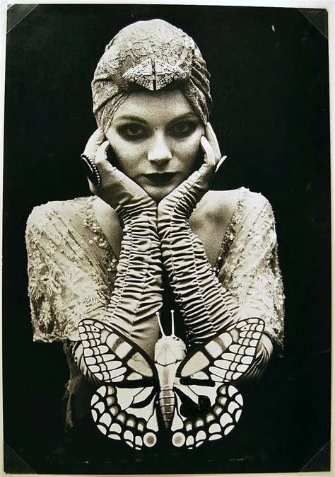 foto de Irina IONESCO Original signed photograph 1989 bust woman