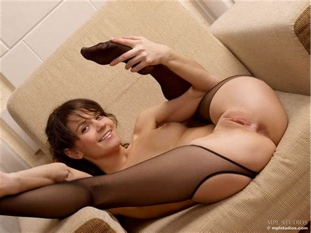 #Sexy #Teen #In #Crotchless #Pantyhose #Spreading #Her #Shaved
