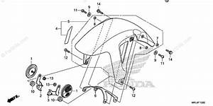 Honda Motorcycle 2018 Oem Parts Diagram For Front Fender