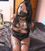 Black girl bound and gagged