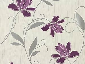 Tapete blumen weiss lila as creation 3062 34 for Balkon teppich mit tapete as creation