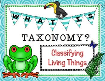 Classifying Living Things Taxonomy PowerPoint Presentation