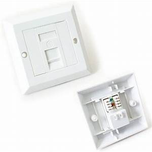Single Port Cat6 Idc Wall Outlet Face Plate