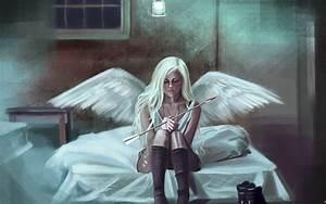 Fantasy, Artwork, Art, Angel, Wings, Girl, Girls, Gothic, Mood, Dark, Wallpapers, Hd, Desktop, And