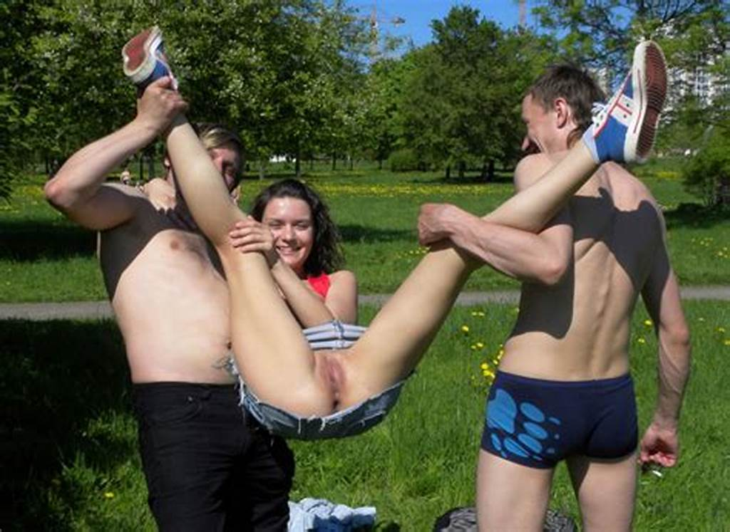 #Nice #Brunette #Shows #Her #Shaved #Pussy #And #Boobs #To #Everybody #At #Park