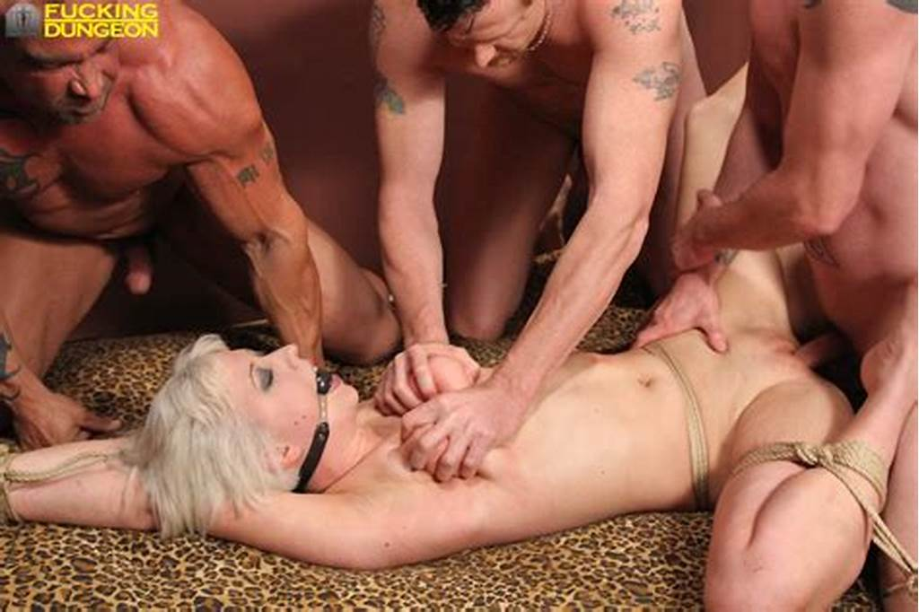 #Dungeon #Slave #Cherry #In #4 #Way #Gangbang