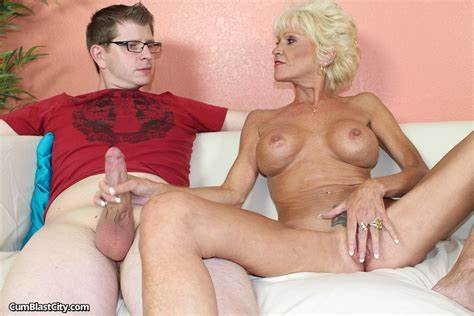 Oldnanny Granny Strokes Prick And