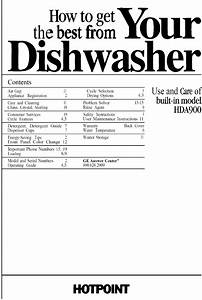 Hotpoint Hda400v 60ba User Manual Dishwasher Manuals And