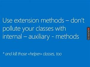 use extension methods don t pollute