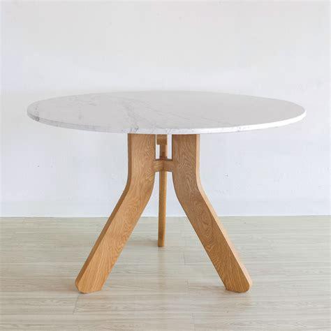 โต๊ะกลมหินอ่อน - Polar Table (Round) - Mahasamut