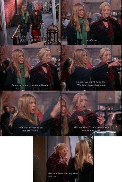 With jennifer aniston, courteney cox, lisa kudrow, matt leblanc. The One with the Apothecary Table | Friends season, Fangirl, Phoebe