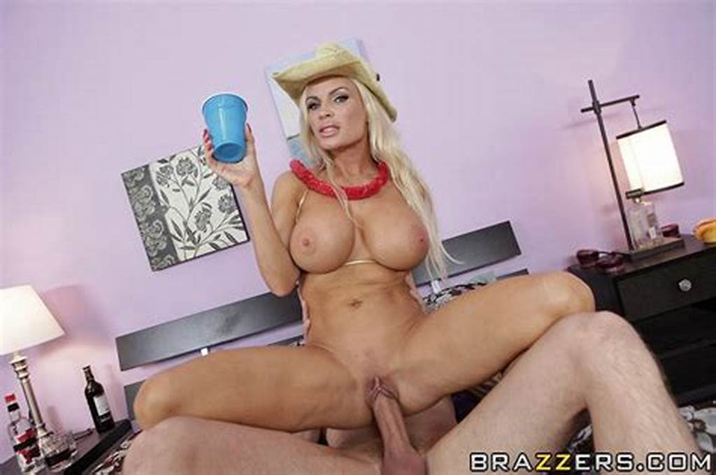 #Big #Jugged #Blonde #Milf #In #Tiny #Golden #Bikini #Has