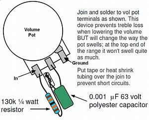 Telecaster Treble Bleed Wiring Diagram