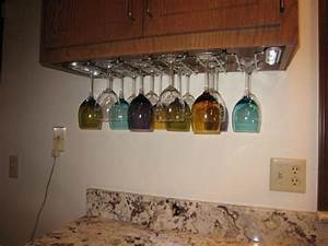 rack outstanding under cabinet wine glass rack for With kitchen cabinets lowes with pink glass candle holders