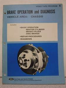 1975 Ford Brake Operation And Diagnosis Technician Manual