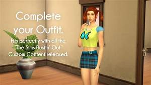 Blue Skirt From The Sims Bustinu002639 Out By Littledica At Mod