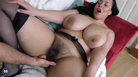 Gorgeous Giant Busty Old Taking In Her First Pussy