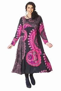 Robe Pour Femme Ronde : robe longue ethnique d inde pour femme ronde papaye noire ~ Nature-et-papiers.com Idées de Décoration