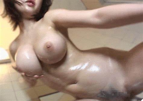 Big Busty Redhead Tranny Oiling Up And Riding Dildo