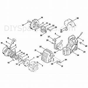 Stihl Fs 80 Brushcutter  Fs80e 4112   Parts Diagram  B