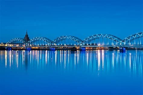 Tilti pār Daugavu - Skats no tilta