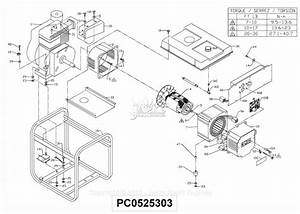 Powermate Formerly Coleman Pc0525303 Parts Diagram For